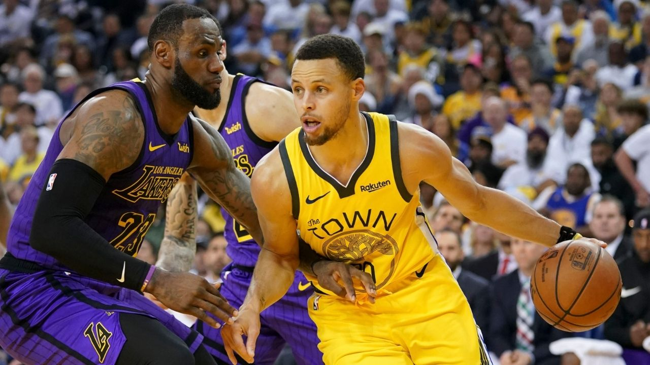 """""""Stephen Curry could join the Lakers"""": Kendrick Perkins suggests the Warriors star could team up with LeBron James, much to the amazement of Paul Pierce"""