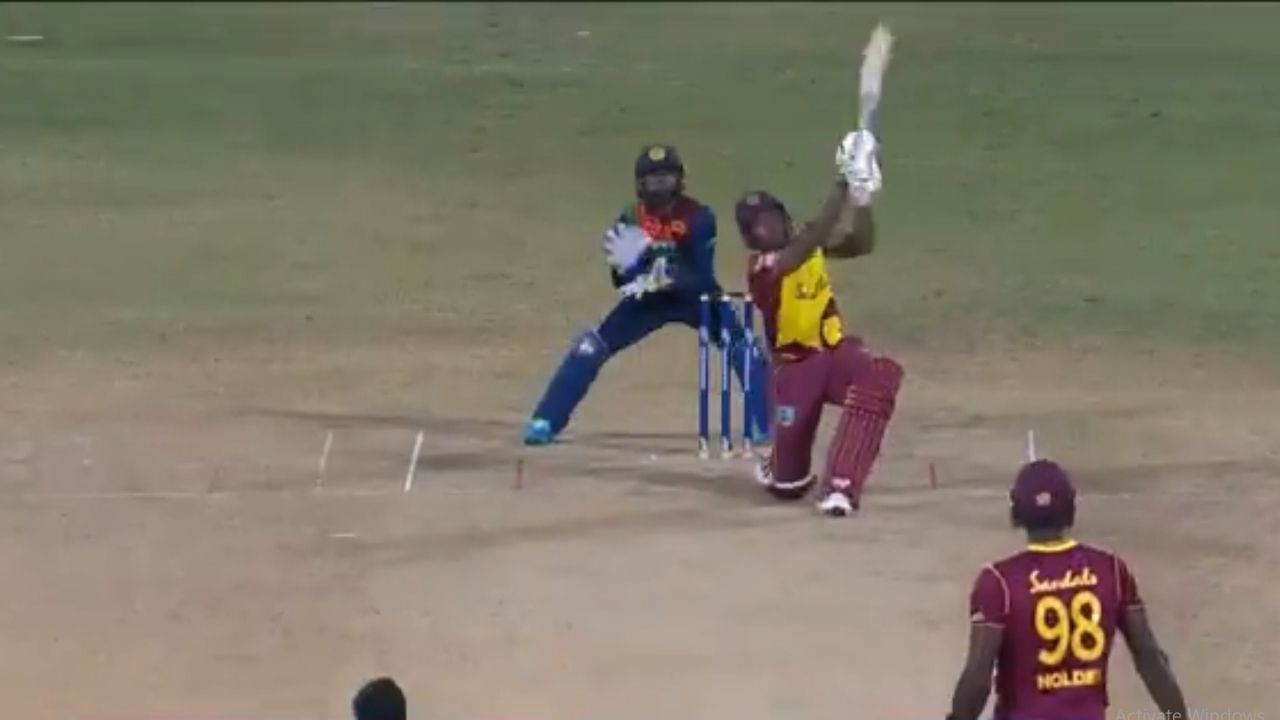 """""""This is your night"""": Ian Bishop rejoices as Fabian Allen scores three sixes off Akila Dananjaya to win 3rd T20I"""