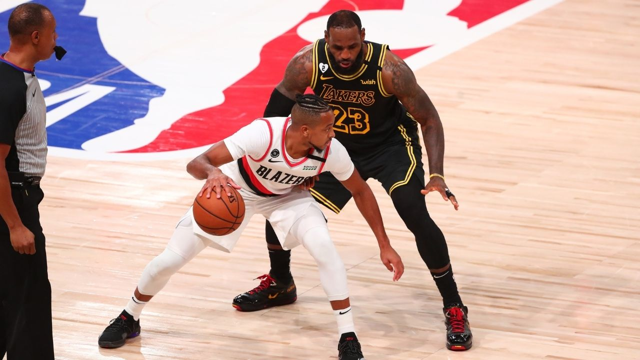 """""""CJ McCollum, you aren't nice, but super nice"""": LeBron James compliments Blazers guard after CJ said he's indifferent to whether he ever makes an All-Star Game"""