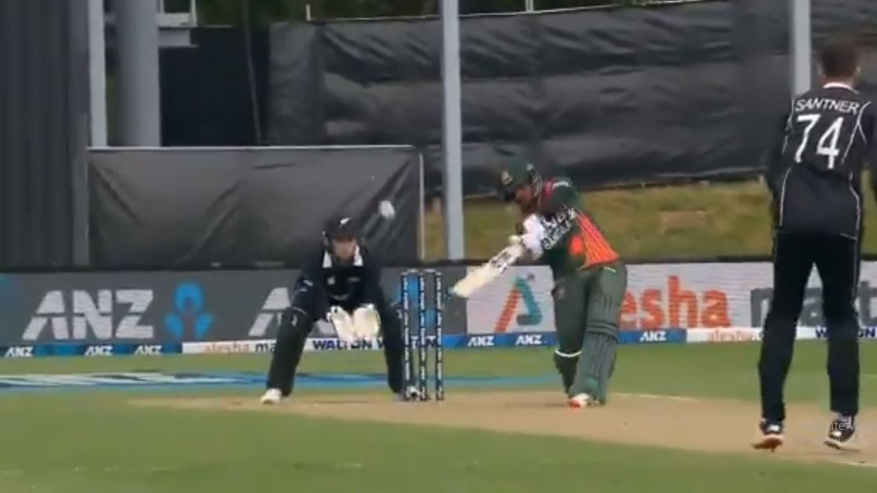 Mahedi Hasan six on ODI debut: Bangladeshi all-rounder hits second ball for six to get off the mark in ODI cricket
