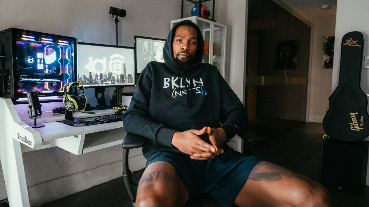 """""""Kevin Durant treasures Nickelodeon's Kids Choice Award"""": Nets superstar has TV award placed next to his Finals MVP trophies at home"""