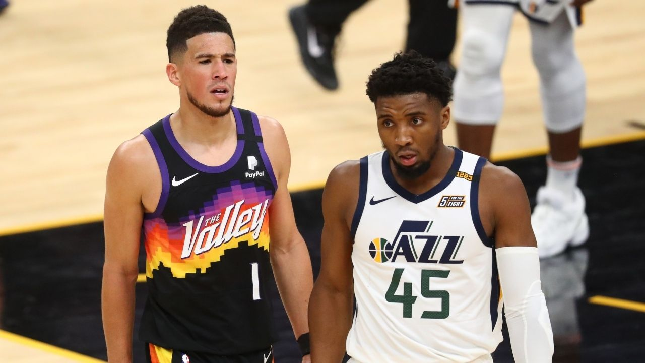 """""""I'm not taking LaMelo Ball, Donovan Mitchell, or Jayson Tatum over Devin Booker"""": Shannon Sharpe disagrees with ESPN's 25 under 25 list and wants more respect to be put on Suns guard"""
