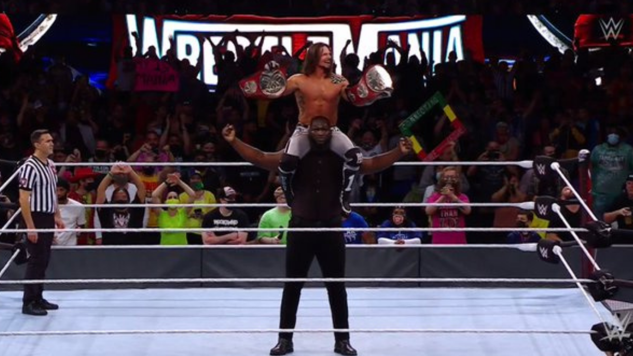 AJ Styles crowned Grand Slam Champion following victory over New Day at Wrestlemania 37