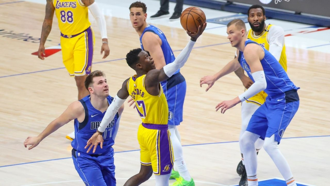 """""""Dennis Schroder had his best Lakers game today"""": Frank Vogel heaps praise on the German guard for his performance tonight against Luka Doncic and his Mavericks"""