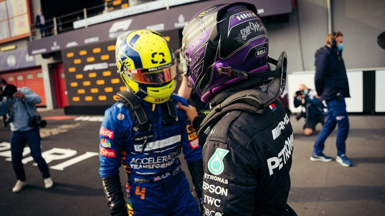 """""""Let's race""""– Lewis Hamilton foresees the future; went to vie with Lando Norris for P2"""