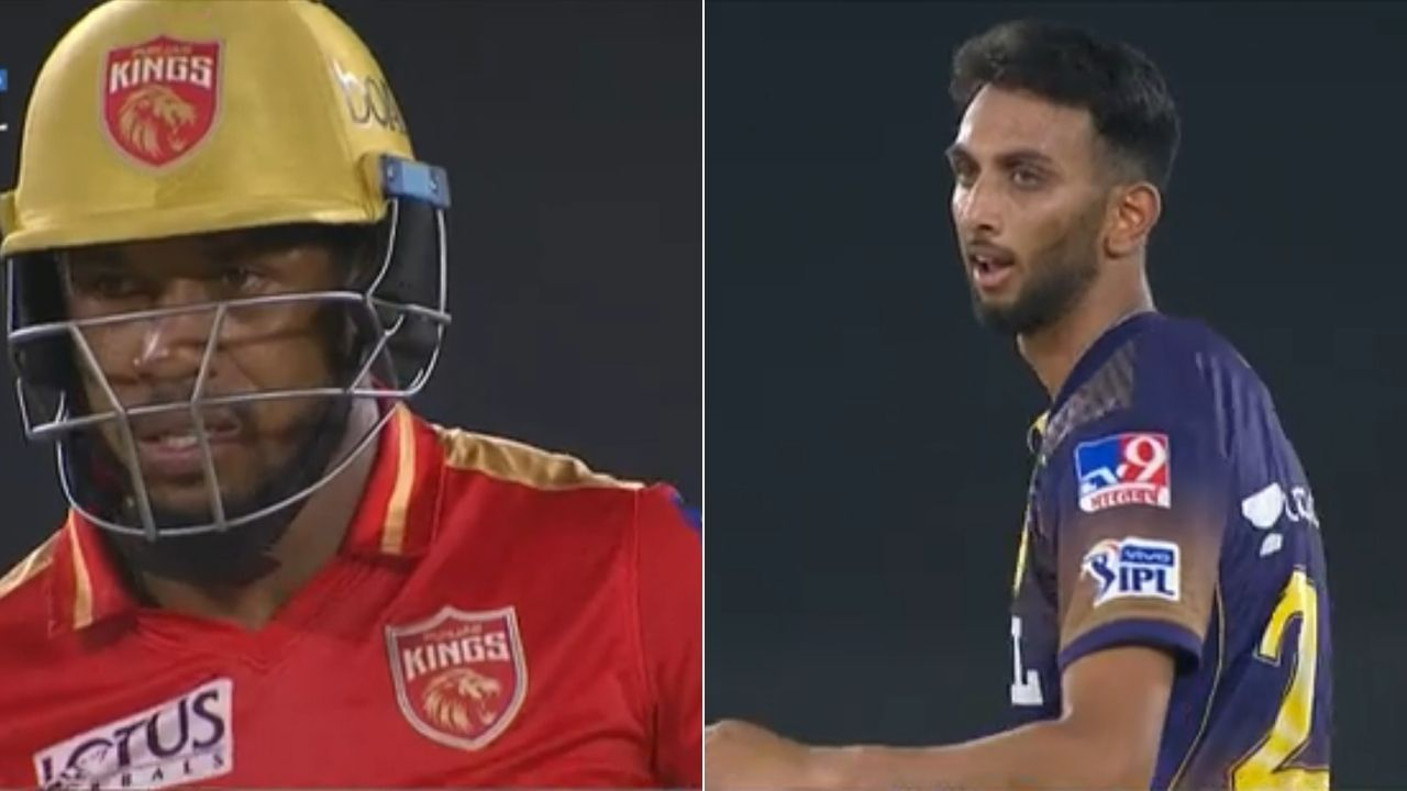 Jordan cricket player: Prasidh Krishna and Chris Jordan engage in verbal battle in PBKS vs KKR IPL 2021 match