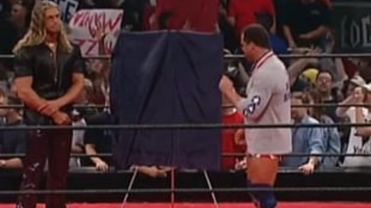 WWE Star Edge tells Kurt Angle he's sorry for staring 'You Suck' chants