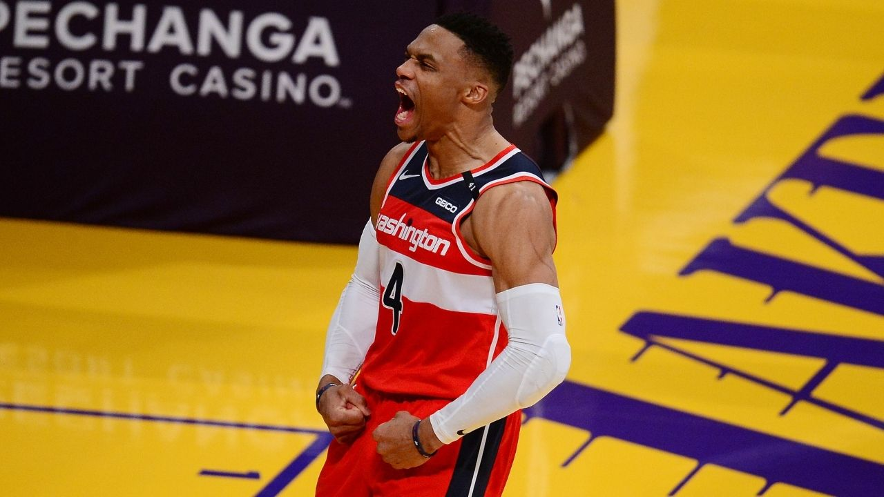 """""""Ahh that's pretty interesting"""": Russell Westbrook references his meme from past years and hilariously recreates it in clutch Wizards win over Steph Curry and the Warriors"""