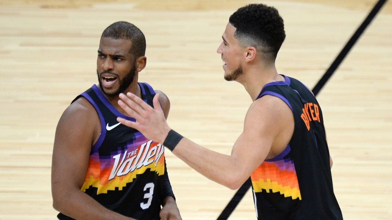 """""""I'm happy for Devin Booker cause he deserves it"""": Chris Paul has high praises for his fellow All-Star teammate as Phoenix Suns clinch their first playoff spot since 2010"""