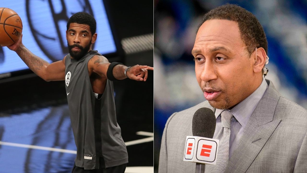 """""""Kyrie Irving, where are you? I mean, damn!"""": Stephen A Smith puzzlingly hits out at Nets star for being present for the birth of"""