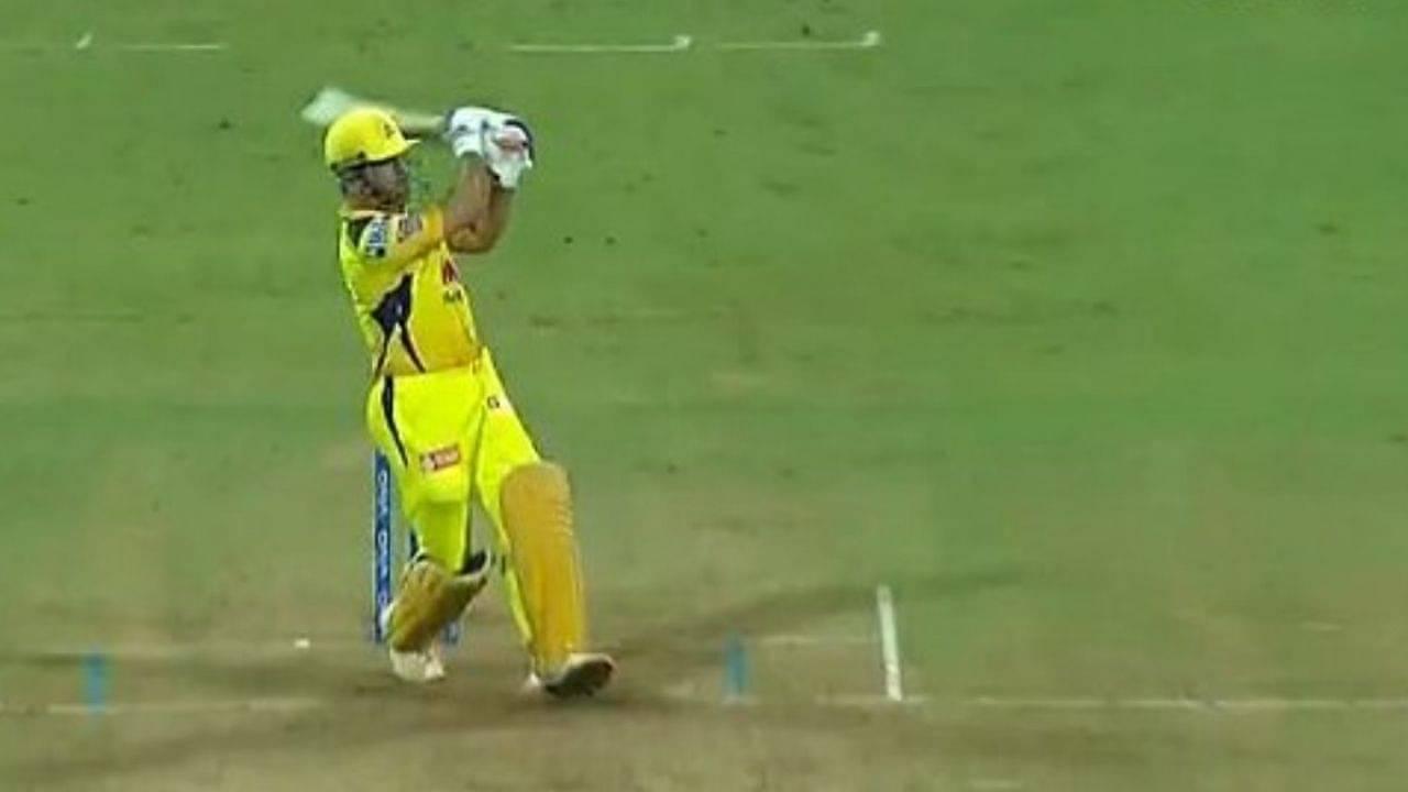 MS Dhoni six: CSK captain pulls Prasidh Krishna for flat six in IPL 2021 match vs KKR
