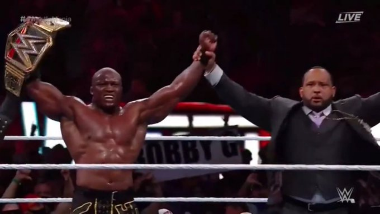 Bobby Lashley beats Drew McIntyre to retain the WWE Championship at Wrestlemania 37