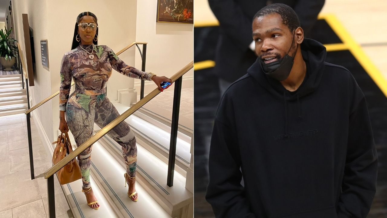 """""""Kevin Durant, your fans gave me a black eye"""": Kash Doll reveals how she hilariously tricked the Nets star while shooting a new music video"""