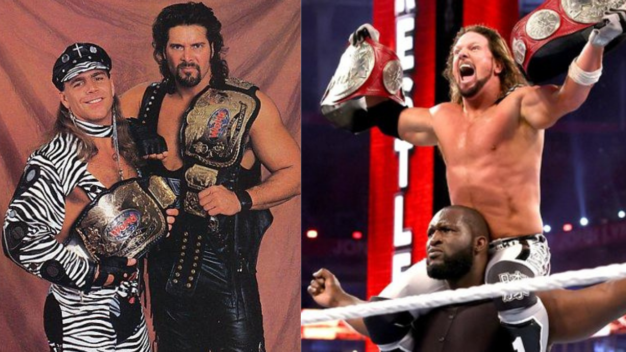 AJ Styles says Omos and him are better than the team of Shawn Michaels and Kevin Nash