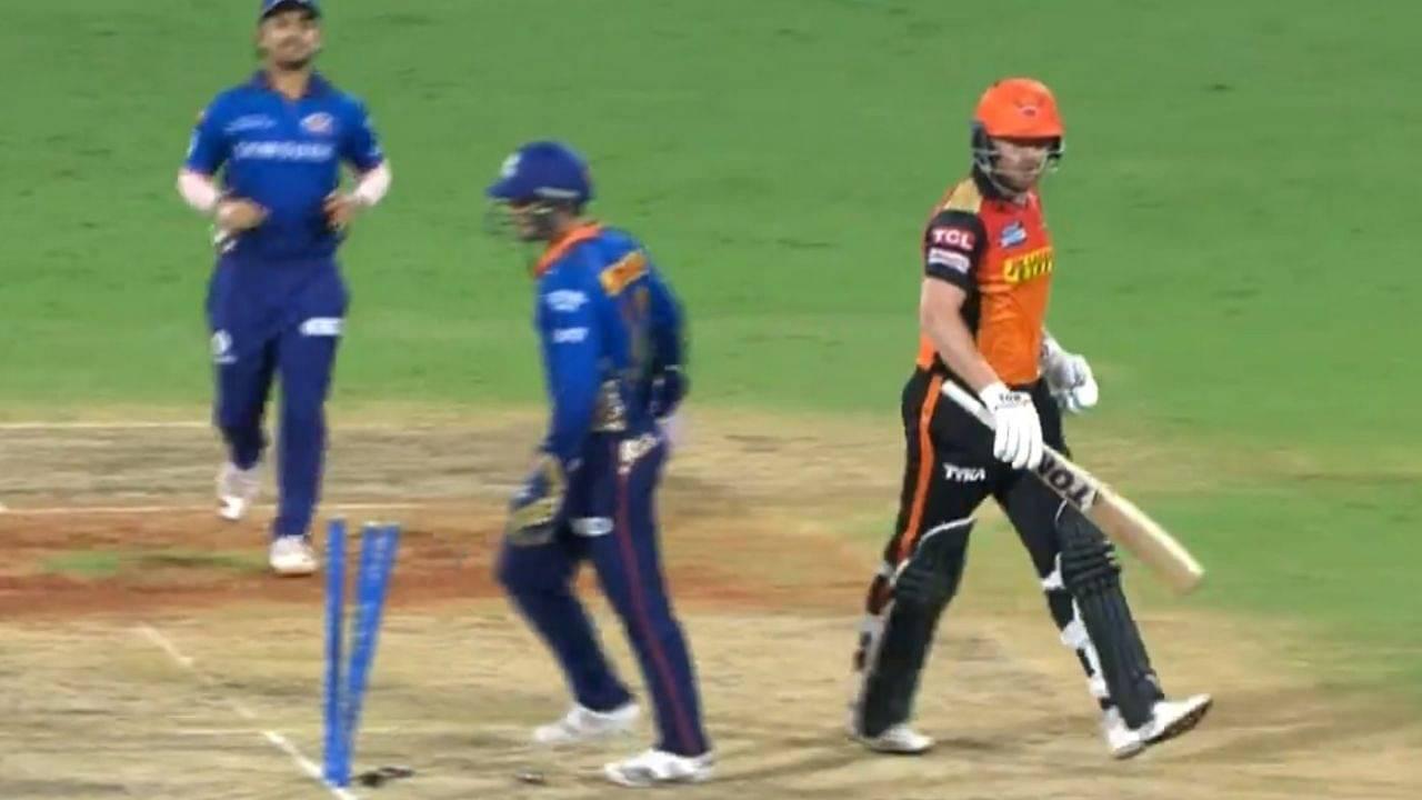Bairstow hit wicket in cricket: Jonny Bairstow registers rare dismissal in MI vs SRH IPL 2021 match