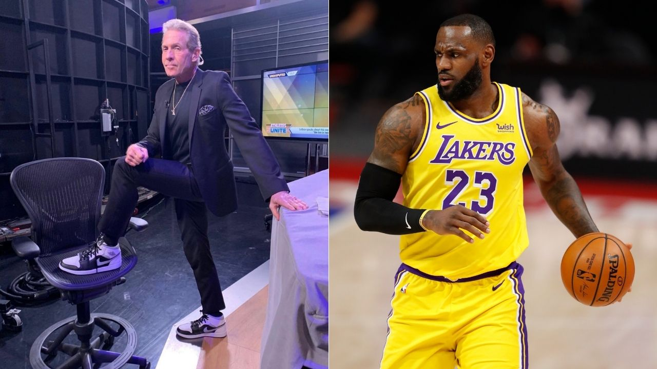 """I can see why LeBron James loves Talen Horton-Tucker, he can't shoot either"": Skip Bayless takes a double swipe at 2 Lakers despite their blowout win over the Nets"