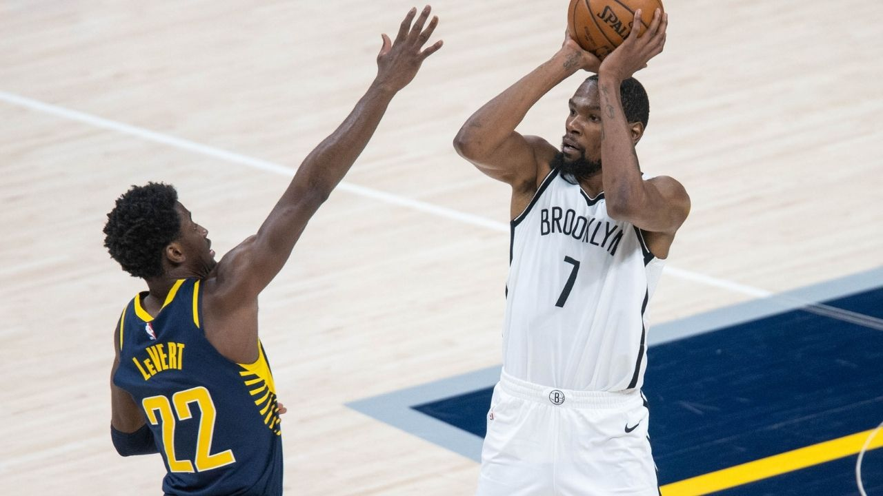 """Kevin Durant, you'll never emulate LeBron James"": Nets star claps back at critics after dropping 42 on Pacers, praises Alize Johnson for his double-double"