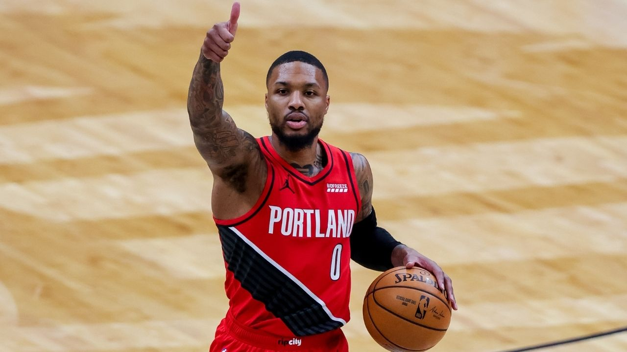 """""""Kyrie Irving gave off Dragon fly jones vibes"""": Damian Lillard takes a hilarious shot at the Nets star after Irving attempts the 'Dame-Time' celebration"""