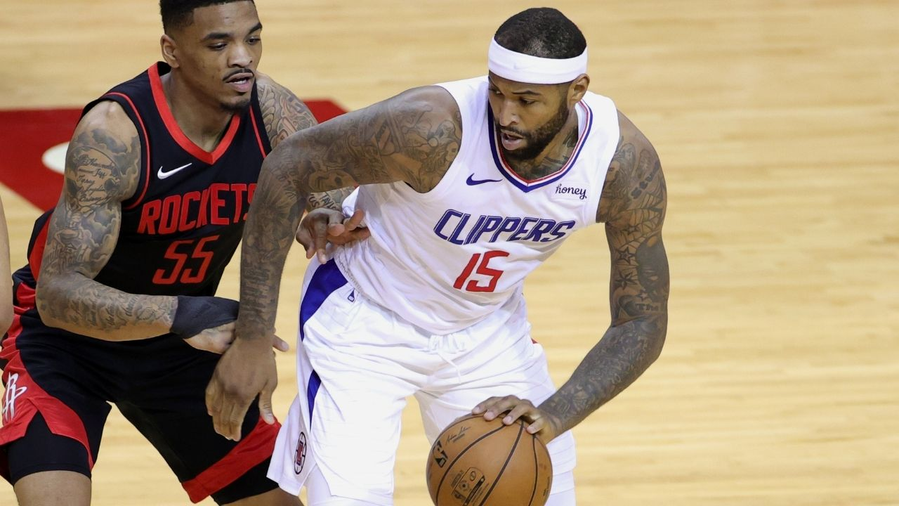 """DeMarcus Cousins shares hilarious defensive strategy while playing alongside Paul George on the Clippers: """"I'm the only 3rd string big-man on a 10-day contract getting double teamed"""""""