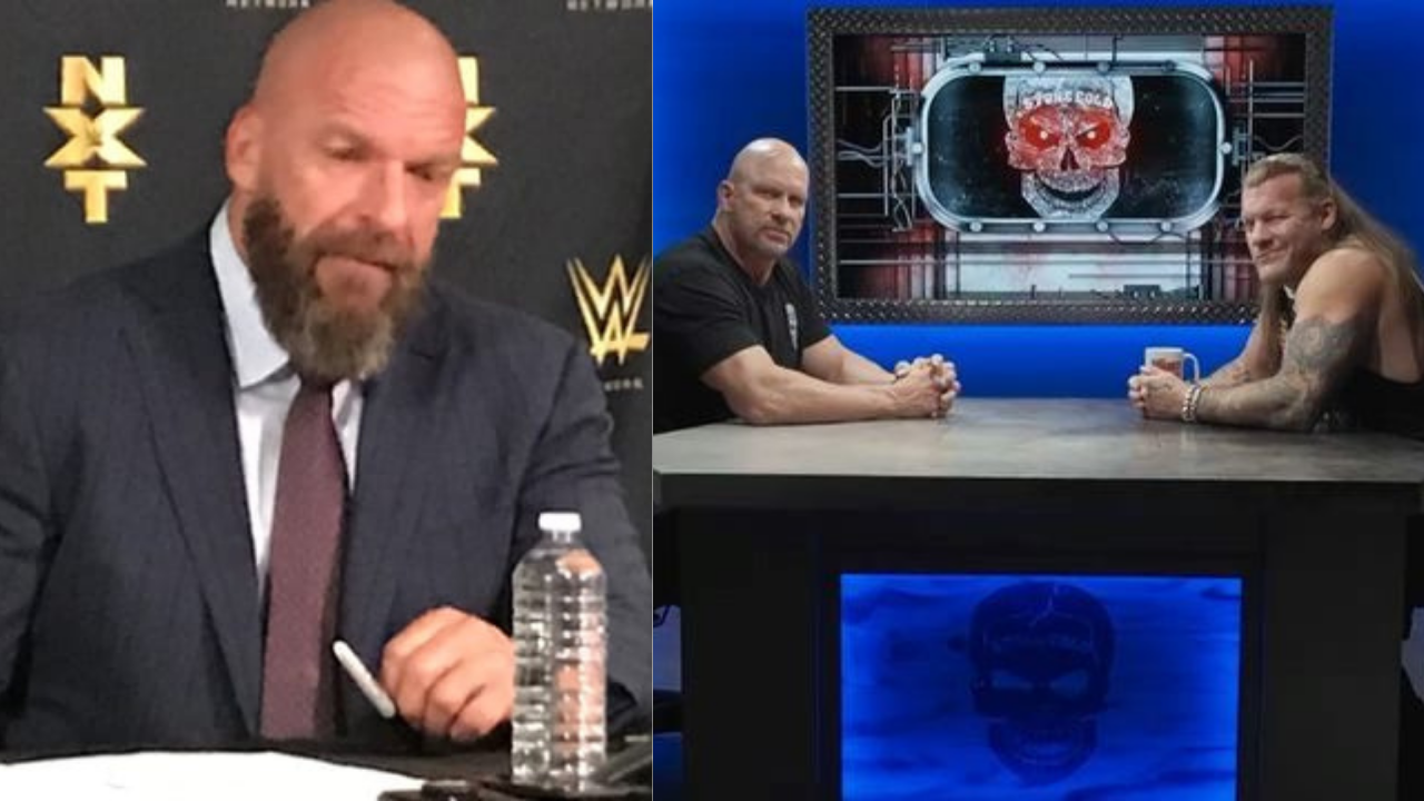 Triple H on Chris Jericho's surprise appearance on Stone Cold's Broken Skull Sessions podcast
