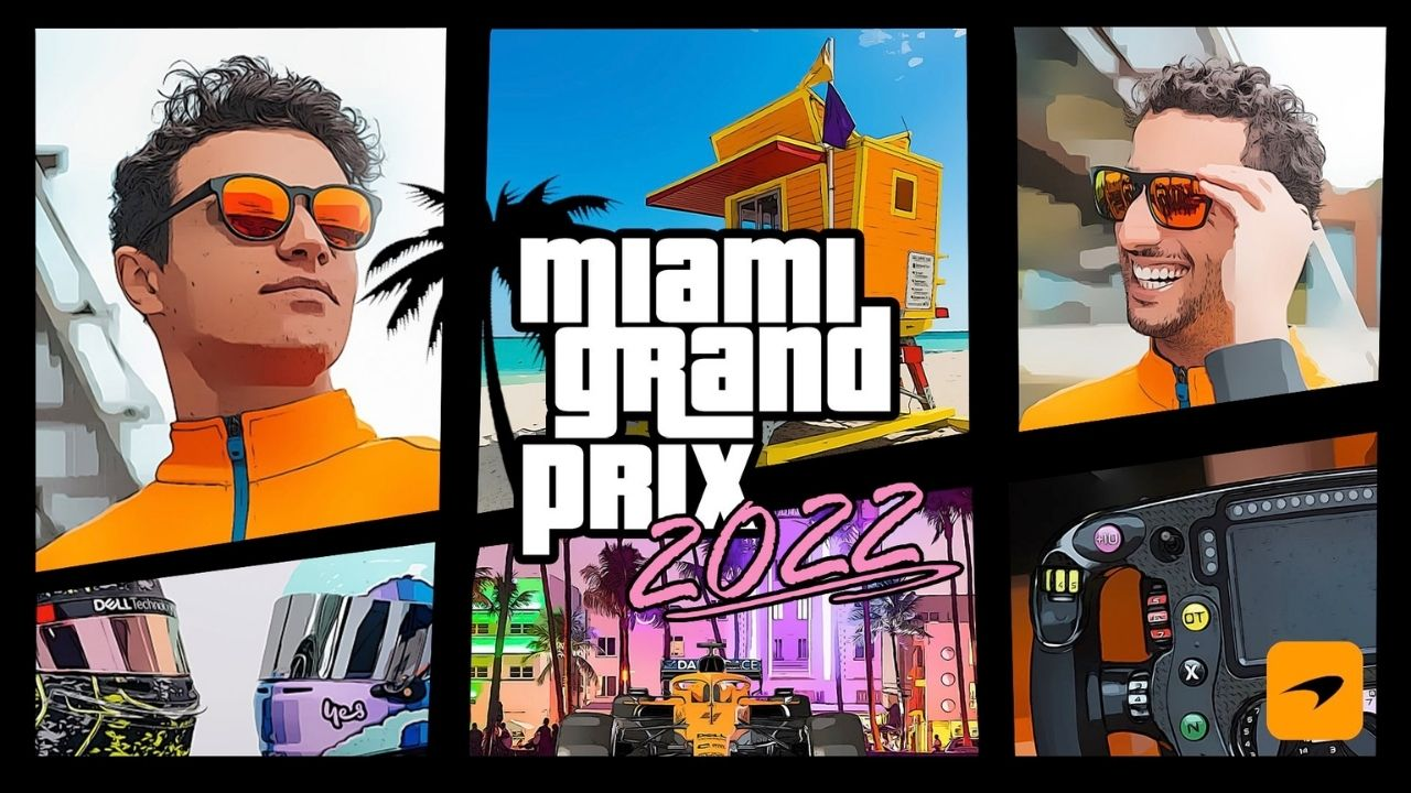 McLaren welcomes Miami Grand Prix with GTA theme poster