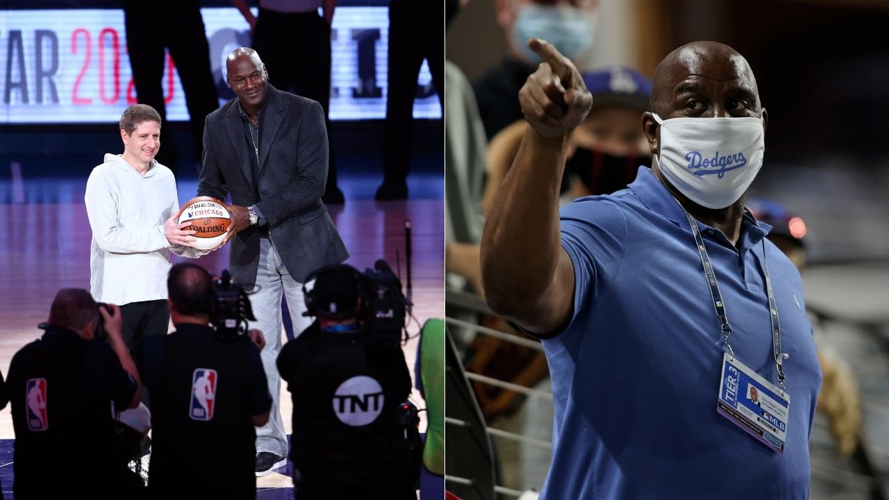 """""""Larry Bird, Magic Johnson there is a new sheriff in town"""": When Michael Jordan declared himself as the NBA's best player while trash talking the Lakers legend"""