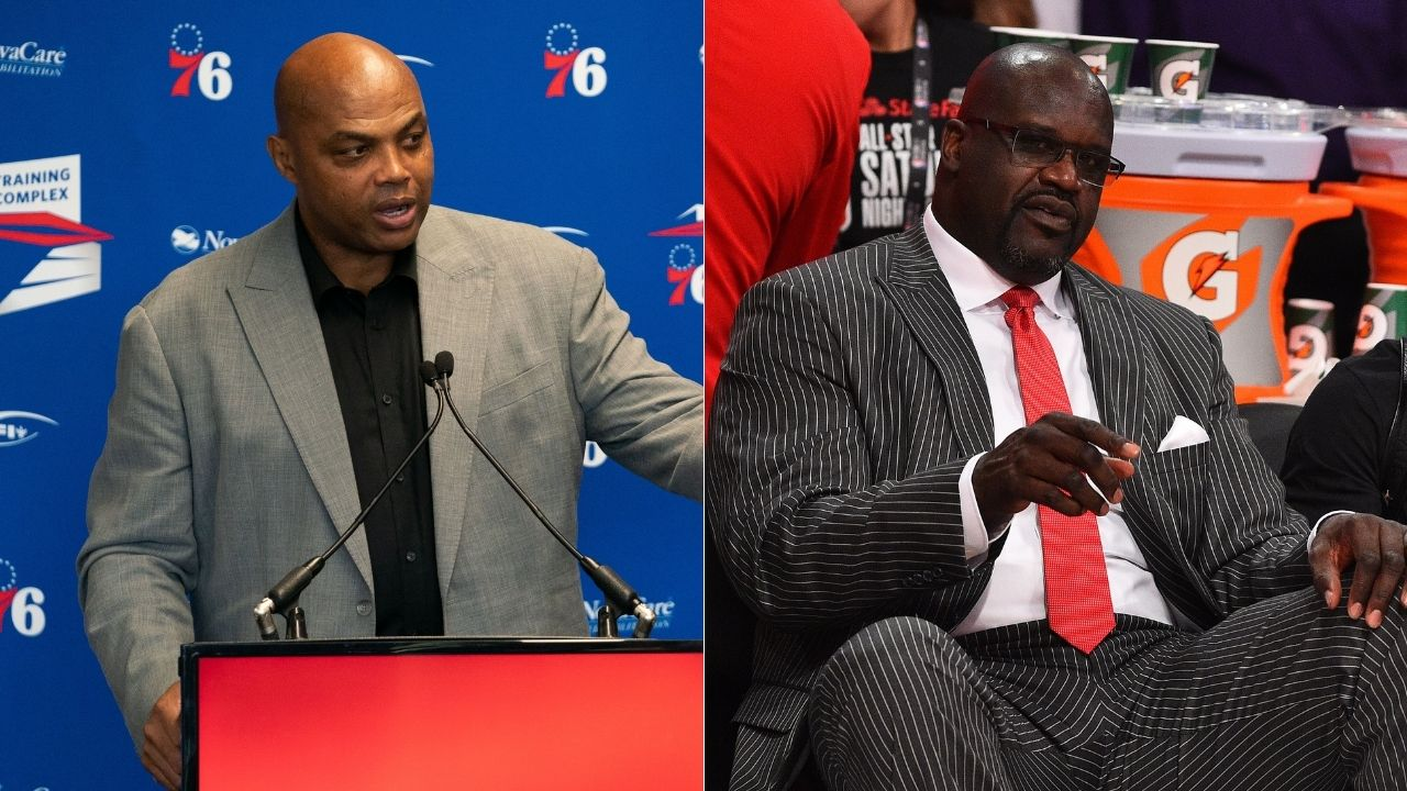 """""""Shaquille O'Neal, don't get your a** whooped on my first day back in work"""": Charles Barkley hilariously trolls the Lakers legend live on Inside the NBA"""