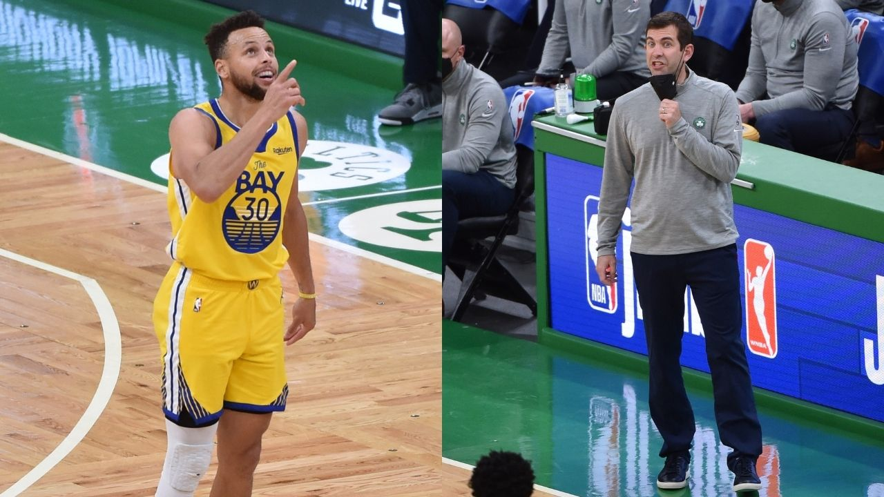 """""""I hate going against him, but man do I love watching him."""": Brad Stevens heaves sigh of relief after Stephen Curry nearly leads Warriors to W against his Celtics team"""