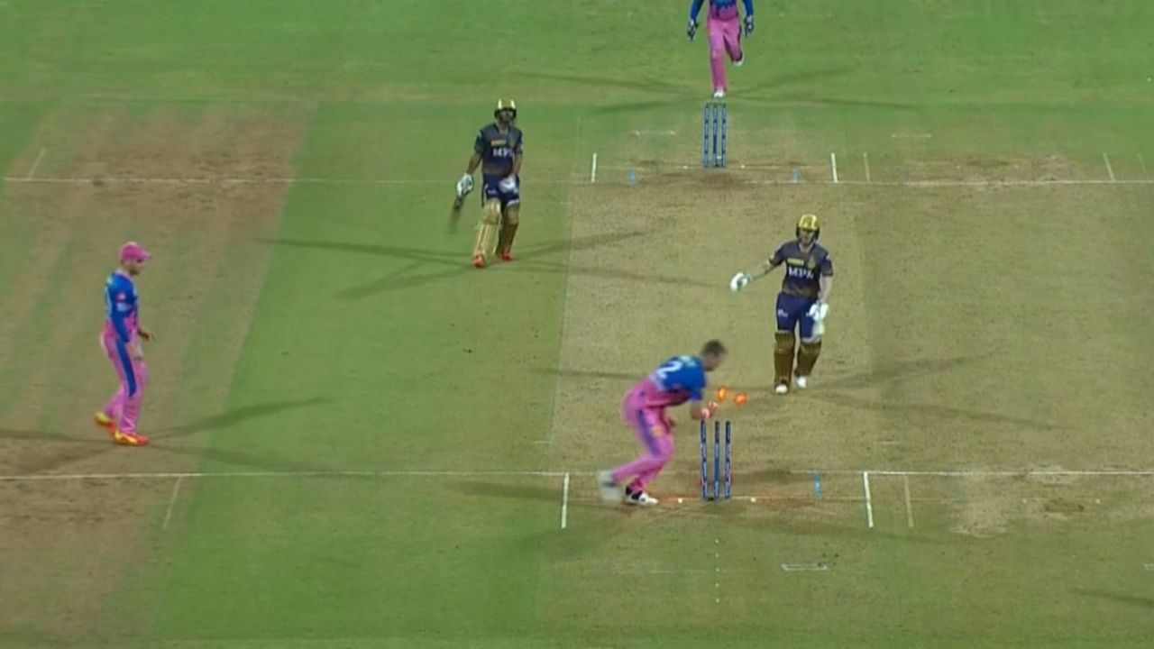 Eoin Morgan run out: KKR captain departs for diamond duck after huge mix-up with Rahul Tripathi vs Rajasthan Royals