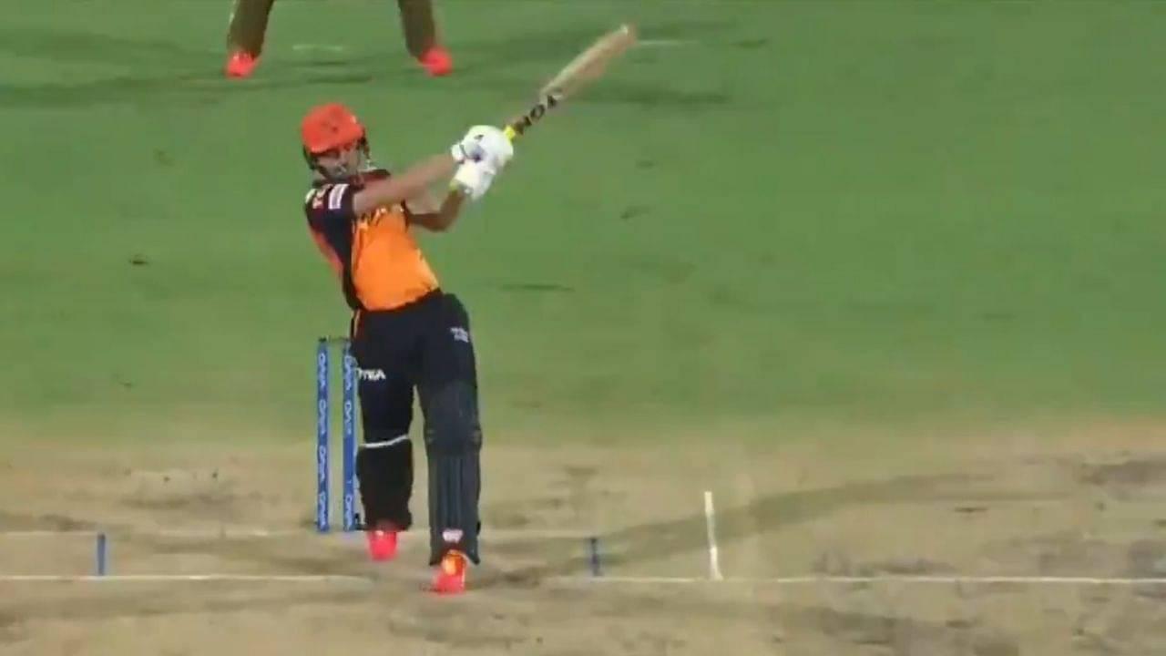 Abdul Samad IPL 2021: Abdul Samad smashes two sixes off Pat Cummins in SRH vs KKR clash