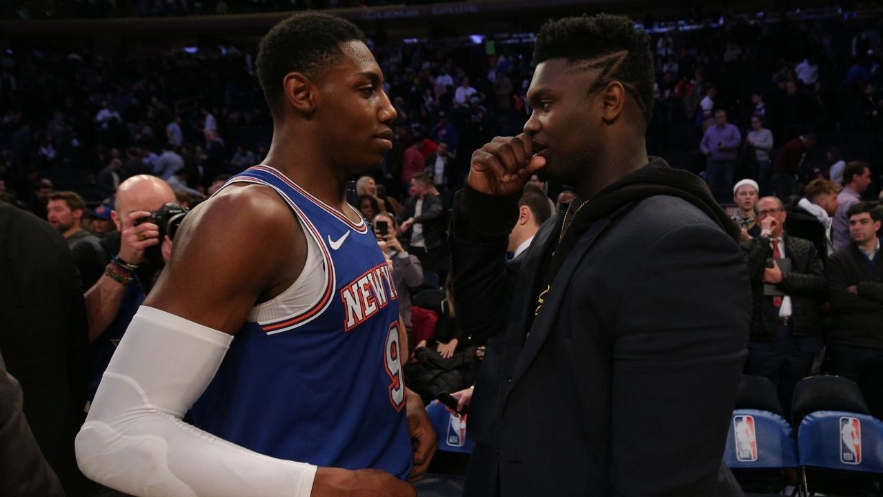 """""""Nice playing RJ Barrett but I was focused on my business"""": Zion Williamson deflects a question about his Duke teammate after Pelicans' 112-122 OT loss to the Knicks"""