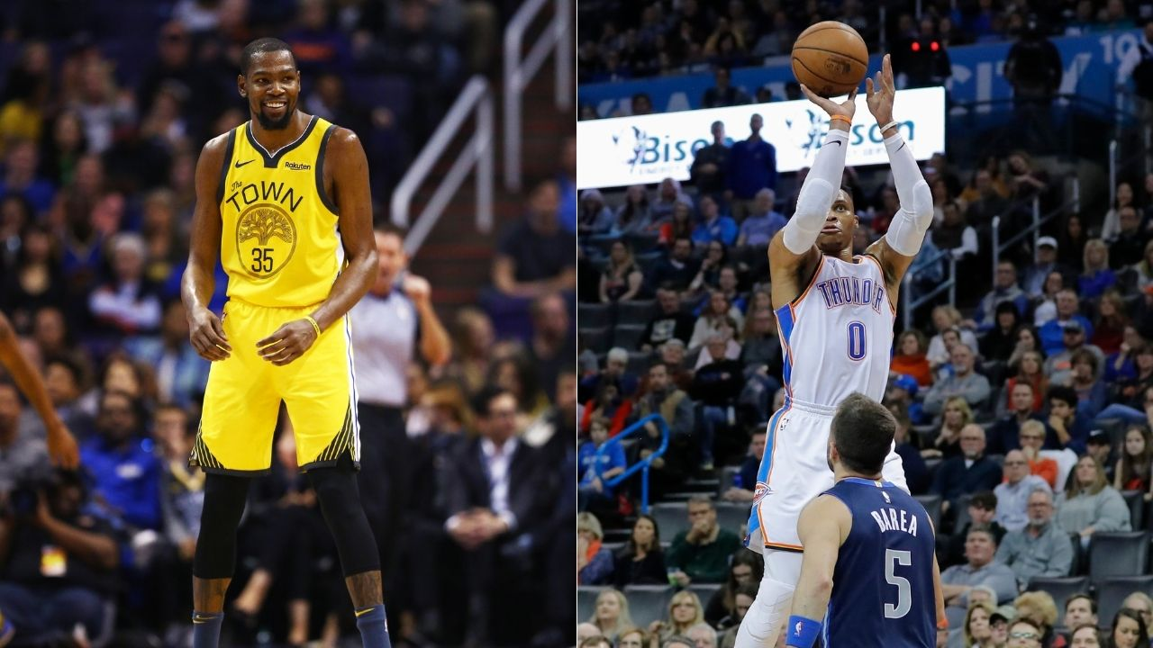 """""""Kevin Durant didn't leave because of Russell Westbrook"""": Kendrick Perkins explains why the Nets star teamed up with Stephen Curry and his 73-9 Warriors"""