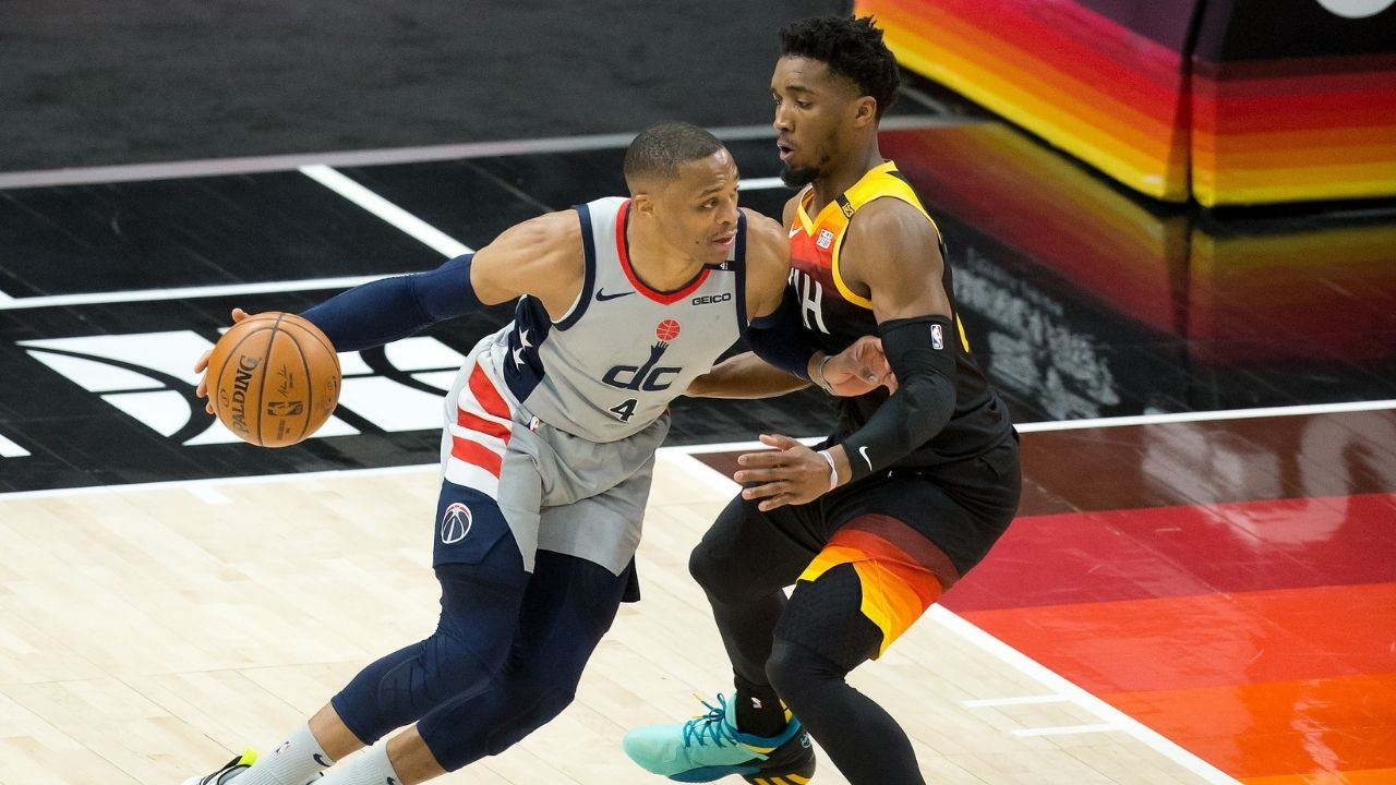 """""""I refuse to let the world take Russell Westbrook's greatness for granted"""": Kendrick Perkins lauds the Wizards superstar following his """"casual"""" triple-double performance against Donovan Mitchell and co"""
