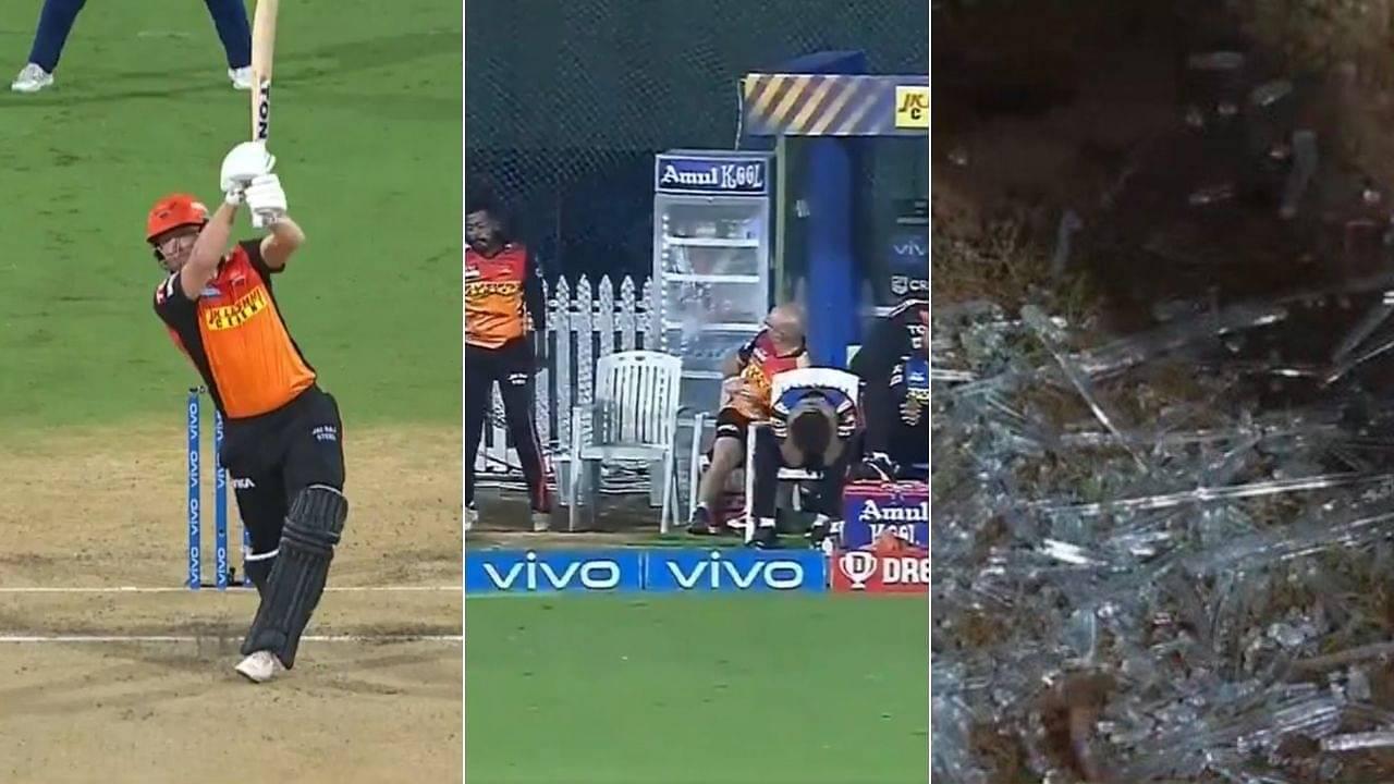 Bairstow IPL 2021 six: Jonny Bairstow smashes six off Trent Boult; breaks glass of fridge in dugout