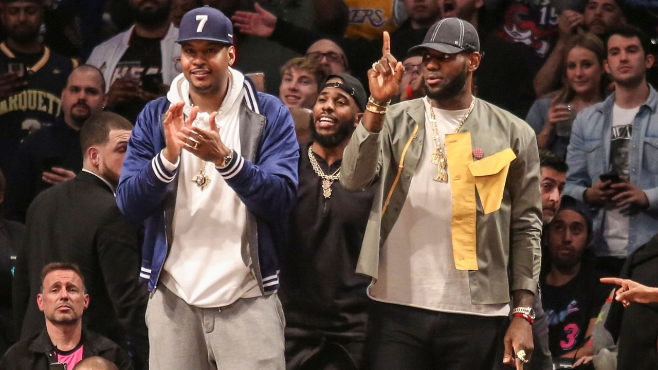 LeBron James has a funny reaction to Carmelo Anthony ranting about the Detroit Pistons' fog machine