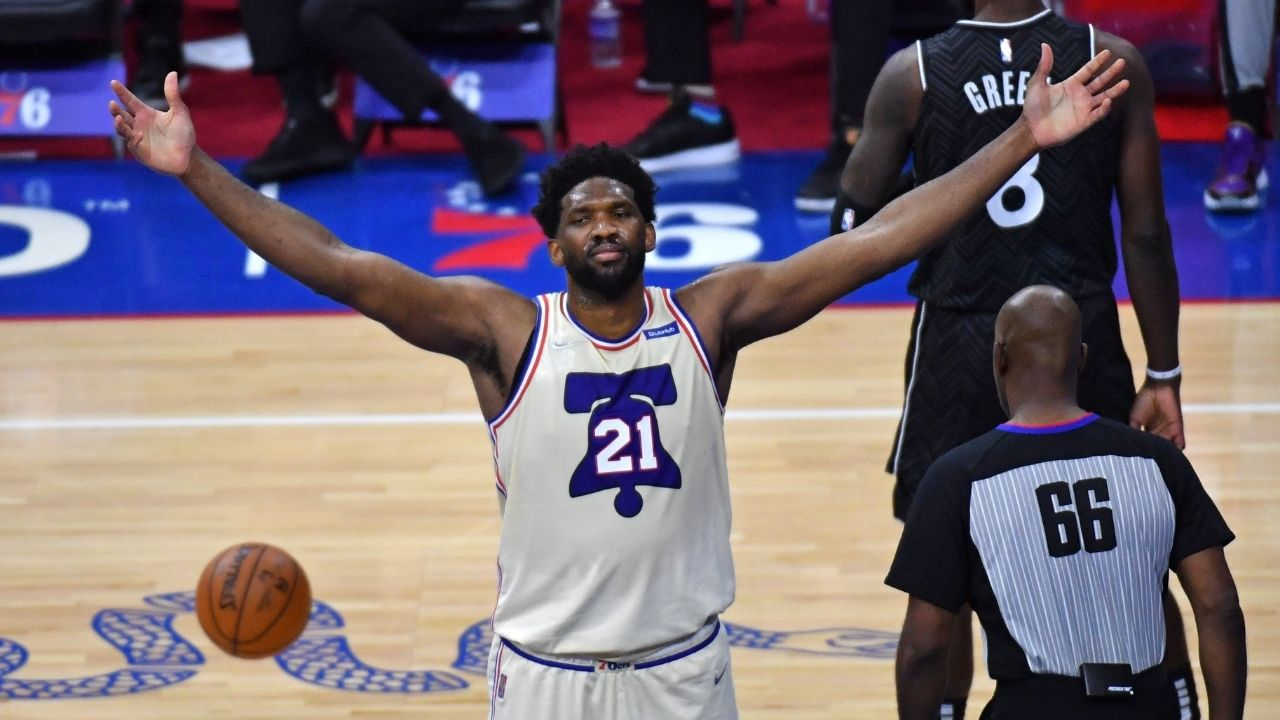 """""""Joel Embiid is your MVP"""": 76ers Instagram account takes shots at other MVP candidates like Nikola Jokic and James Harden following their win over Kyrie Irving and the Nets"""