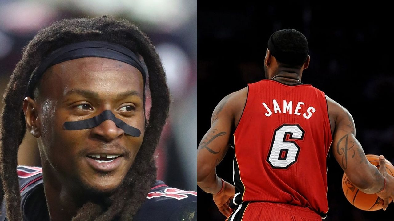 """""""Bring back the 6 like King James in Miami"""": WR DeAndre Hopkins teases NFL jersey number change and his inspiration behind it."""