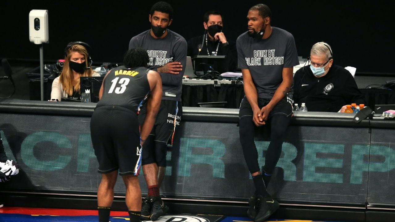"""""""Without Kevin Durant, Nets aren't making the NBA Finals"""": Stephen A Smith warns that James Harden and Kyrie Irving may not be enough firepower for them to beat Embiid, Giannis and others"""