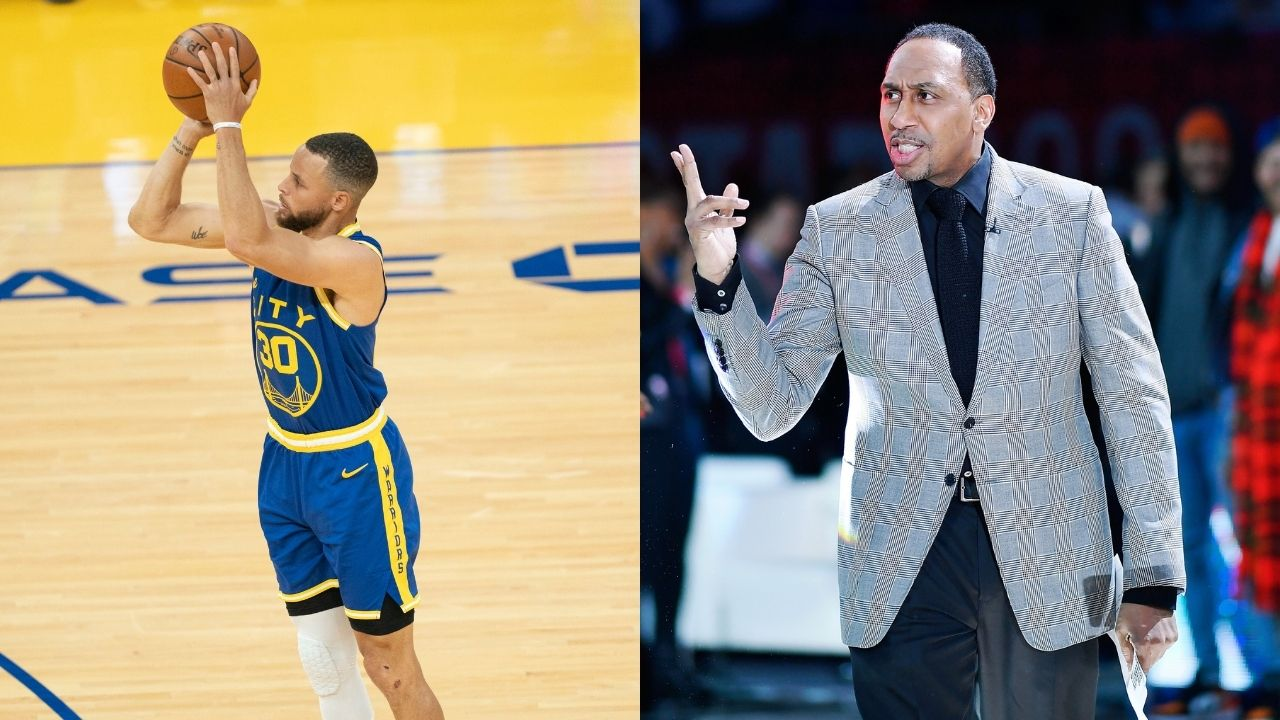 """""""Stephen Curry is the greatest shooter God has ever created"""": Stephen A. Smith reacts to Curry breaking breaking NBA record for most 3s in a calendar month"""