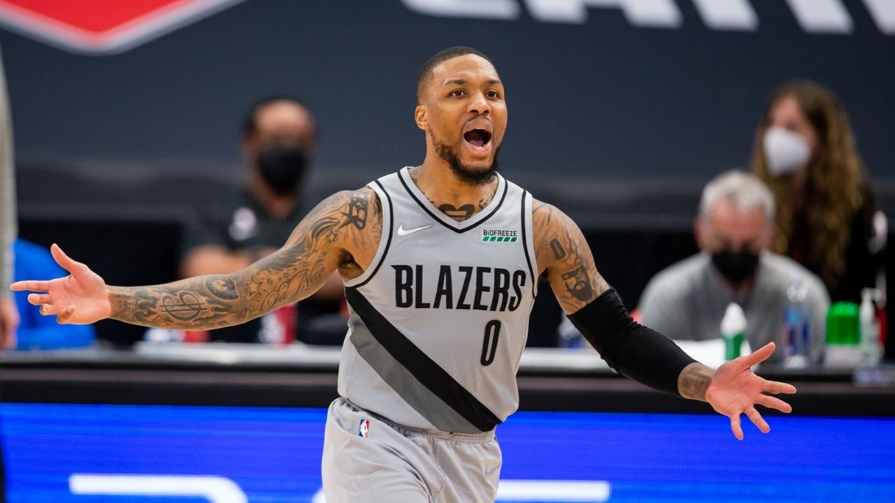 "Damian Lillard confidently responds to fan claiming he bet his house on the Portland TrailBlazers reaching 42 wins in the 2020-21 NBA season: ""Say less"""