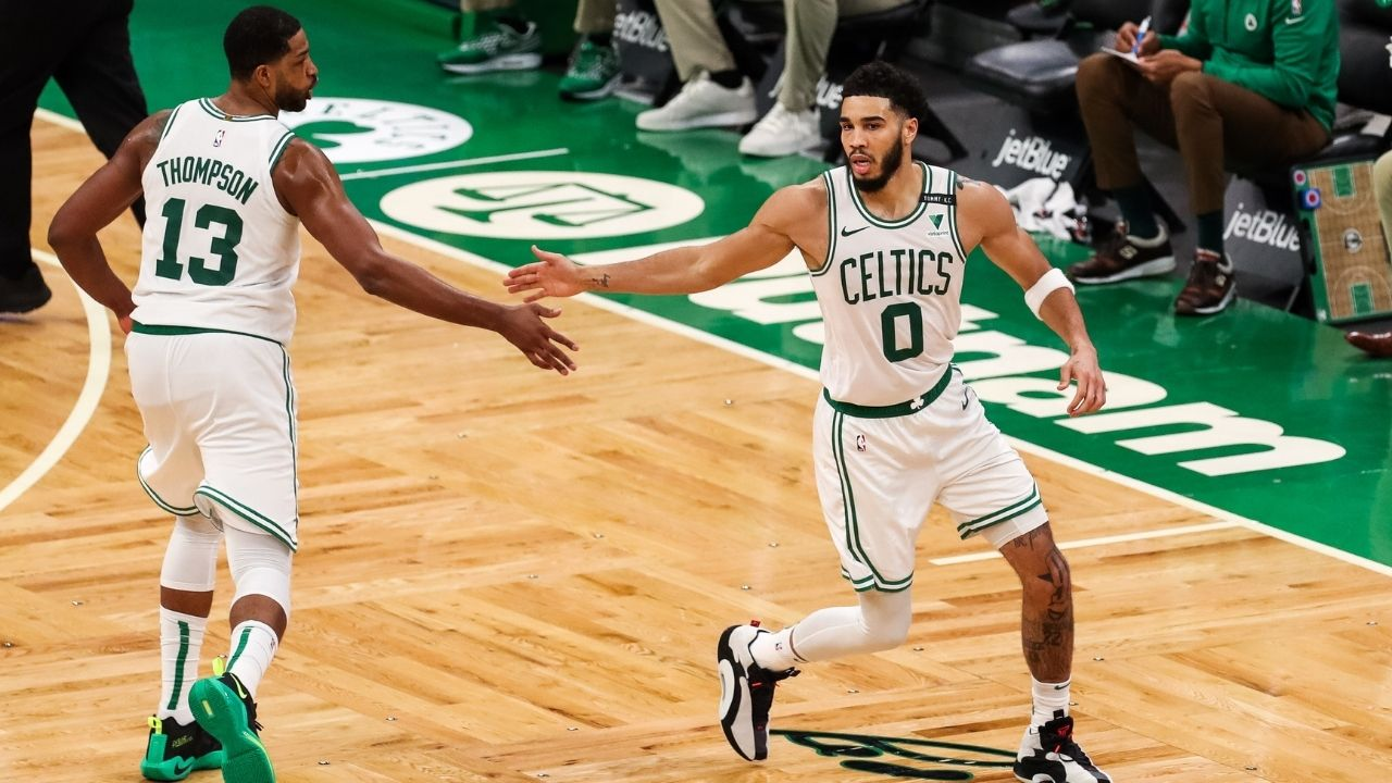 """""""Jayson Tatum responded to my criticism like a true professional"""": Kendrick Perkins lauds the Celtics All-Star following his historic 53-point performance against Towns and Co."""