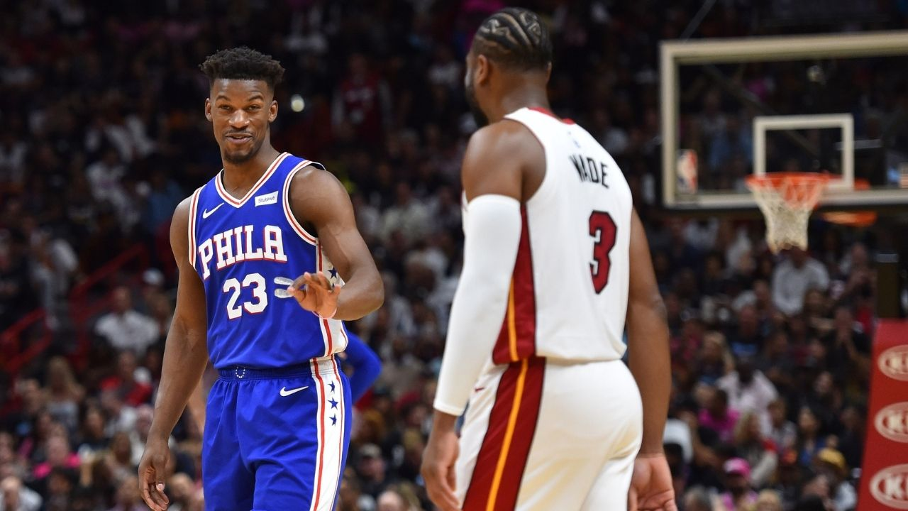 """""""Where was Jimmy Butler when Dwyane Wade and LeBron James were missing free throws for us?"""": D-Wade's saucy reply to a Heat fan's comment on the Bam Adebayo video"""