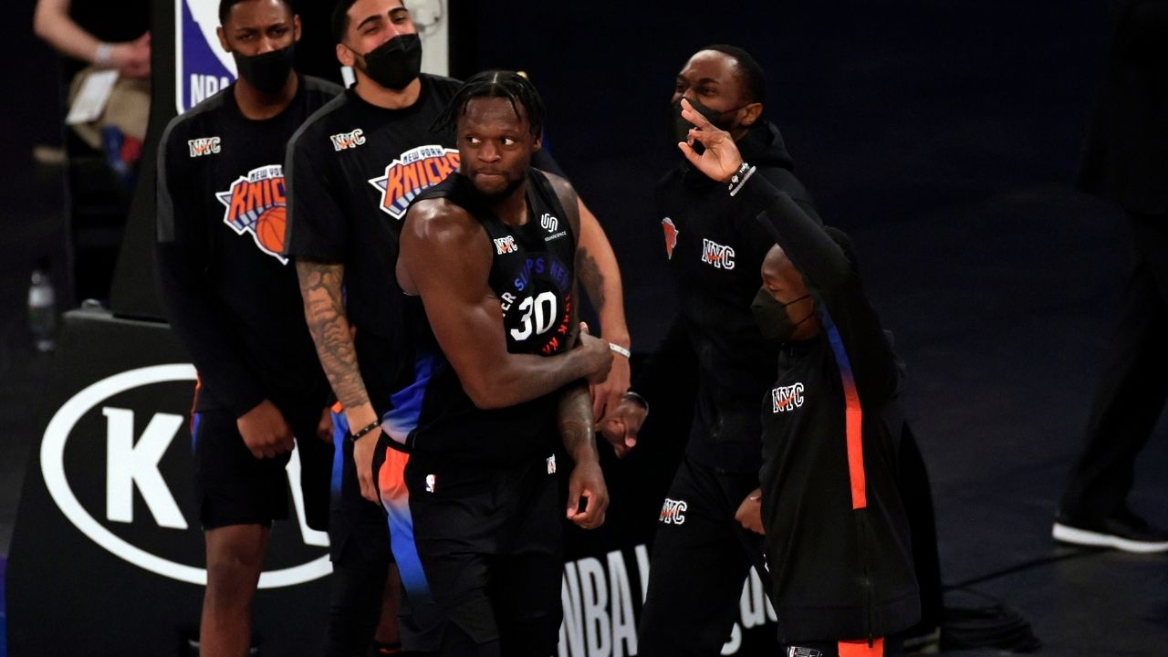 """""""Go New York go New York go!"""": Stephen A. Smith is ecstatic over Julius Randle and the Knicks winning their 9th straight game with a win over the Toronto Raptors"""