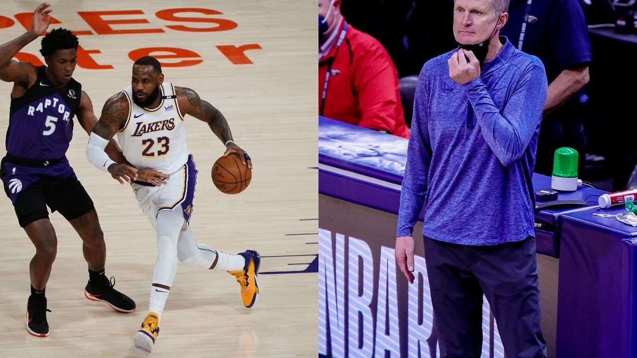 """""""I love the play in tournament"""": Warriors head coach Steve Kerr has an opposing view to LeBron James and Luka Doncic on the new play in format"""