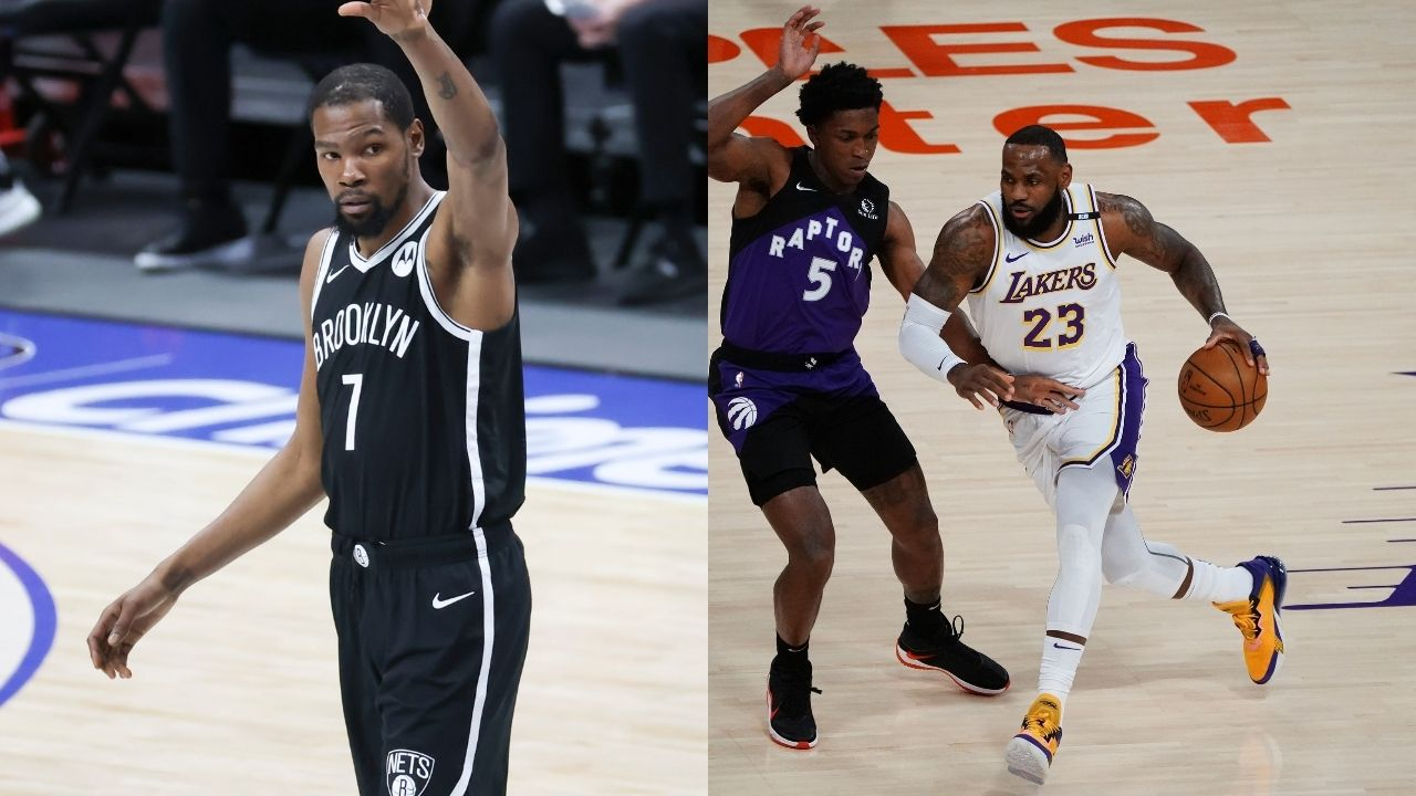 """""""I would take Kevin Durant over LeBron James"""": Stephen A. Smith boldly claims he'd prefer to take the Nets superstar over the Lakers MVP on the offensive end of the floor"""
