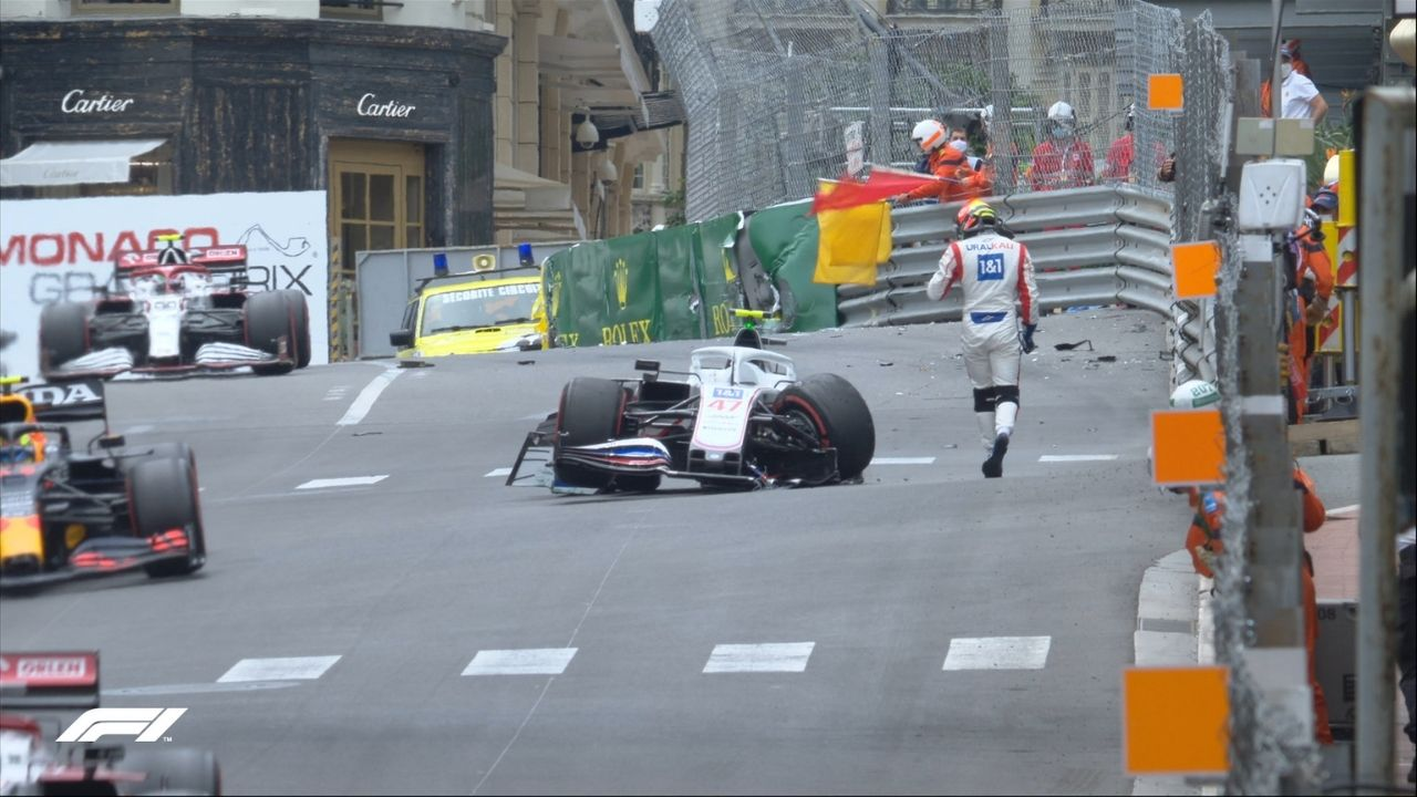 Why is mick Schumacher not racing today in Monaco F1 GP qualification?