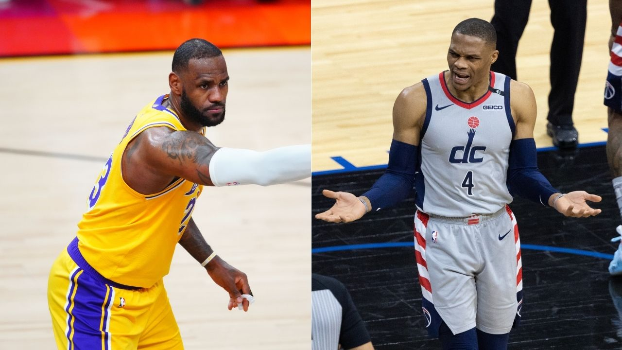 """""""As players we want to see who threw popcorn on Russell Westbrook"""": LeBron James reacts to Sixers fan throwing popcorn on Wizards star's head in Game 2 vs Joel Embiid and co"""