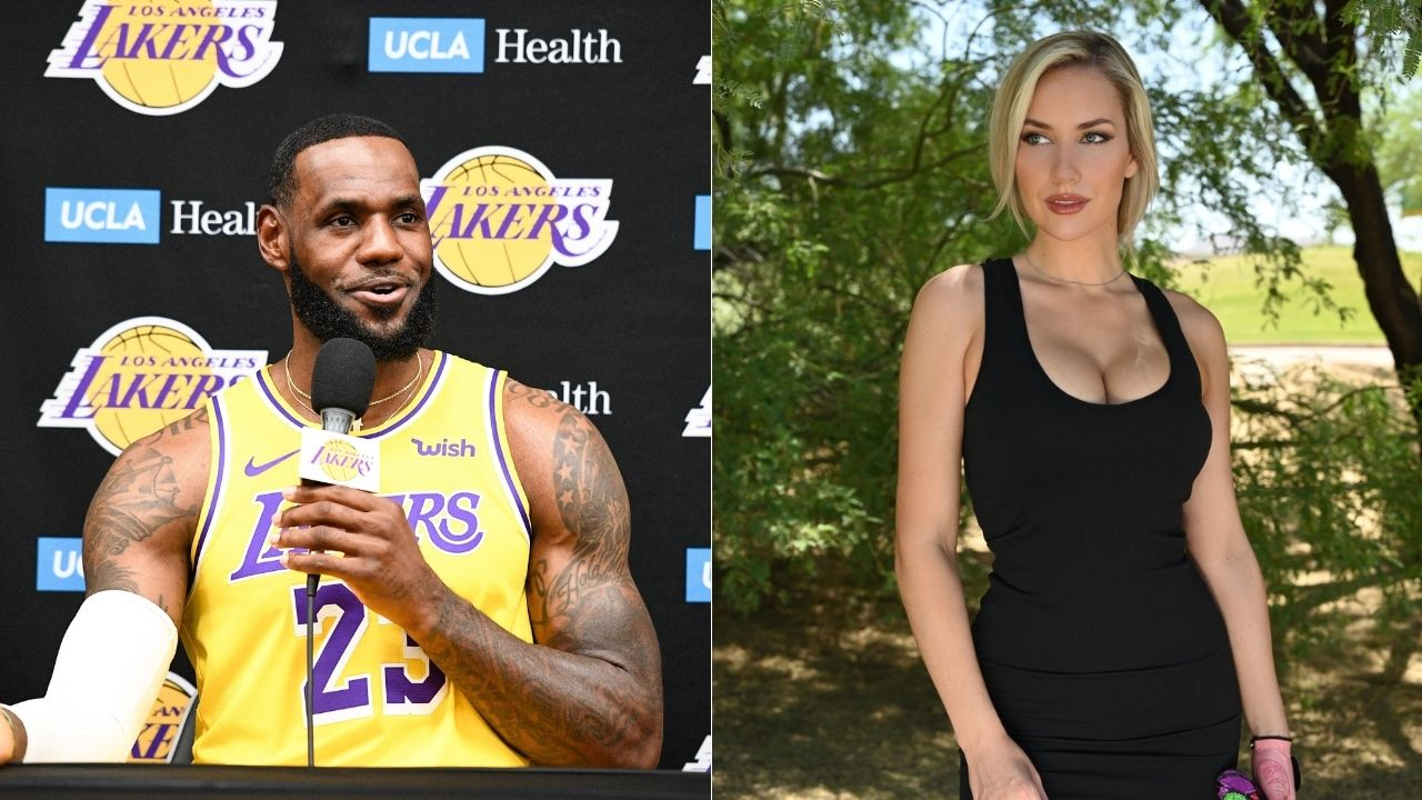 """""""LeBron James proved Space Jam 2 will be great, he's a great actor"""": Paige Spiranac sarcastically applauds Lakers star's 'acting' after getting eye-poked vs Warriors"""