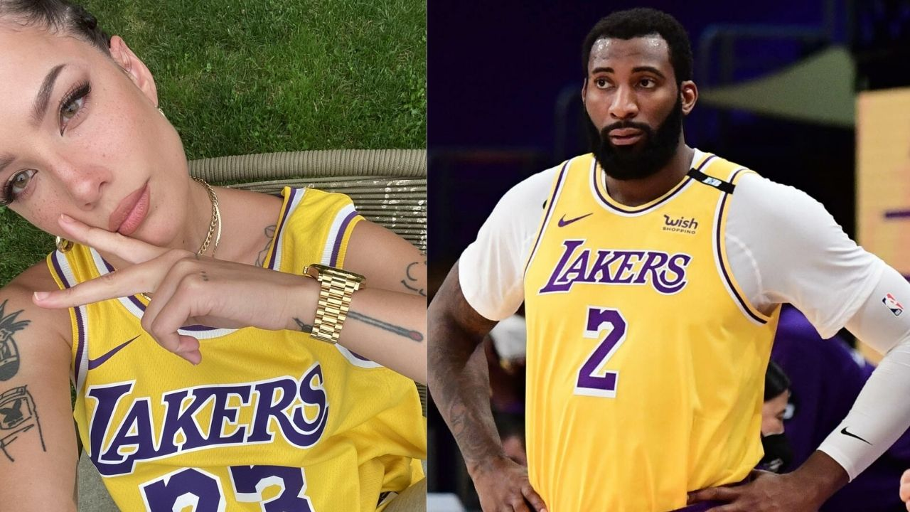 """""""It is so hard to get mad at Andre Drummond"""": Superfan Halsey explains why its hard to get angry at the Lakers' big"""