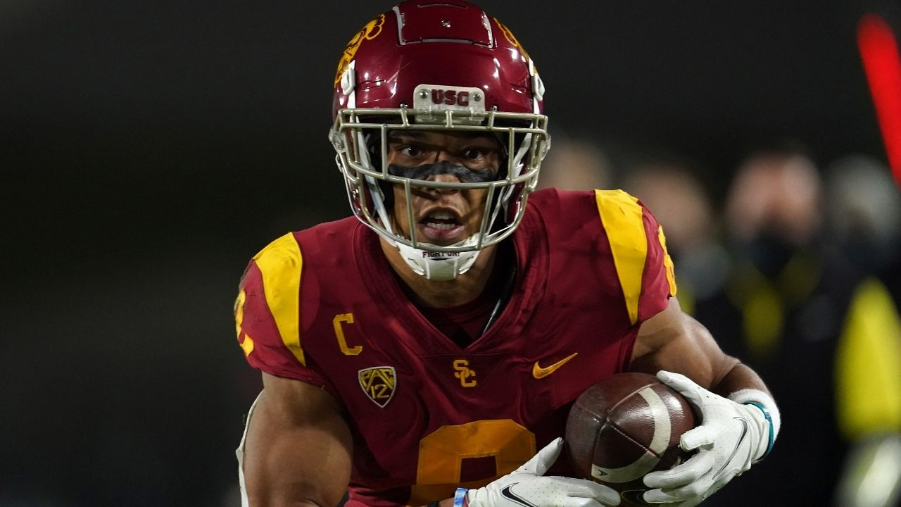 NFL draft 2021: USC WR Amon-Ra St. Brown seen working out at midnight after not being drafted on day 2 of the NFL draft.